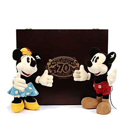 Steiff ミッキー&ミニーマウス セット 70周年記念 EAN652769
