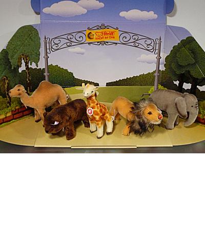 Steiff 動物園ミニチュアセット EAN038686
