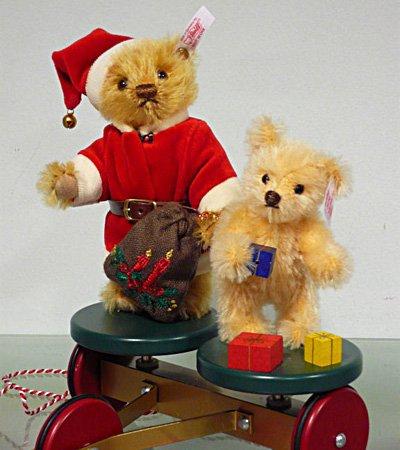 Steiff クリスマス ローリードーリープルワゴン テディベアセット EAN037702