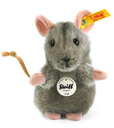 Steiff プフ マウス グレー EAN056222