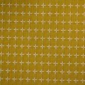 刺し子 風呂敷 黄色