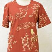 和柄Tシャツ 鳥獣戯画 赤