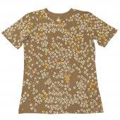 和柄Tシャツ こぼれ桜(Beige・White)