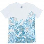 和柄Tシャツ 紫陽花(White・Purple・Navy blue)