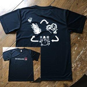 とんぼのライフサイクルTシャツ 黒色 【Lサイズ】