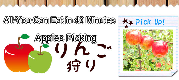 Enjoy the All-You-Can Both Eat Apples and Grapes with an Entrance Fee.