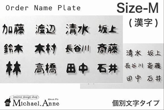 ☆オーダー表札☆個別文字タイプMサイズ(漢字)【AJ-Kobetu-MK】