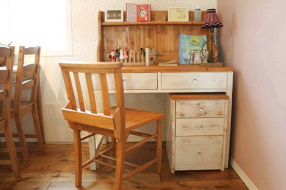 Shabby Chic Collectionデスク4点セット