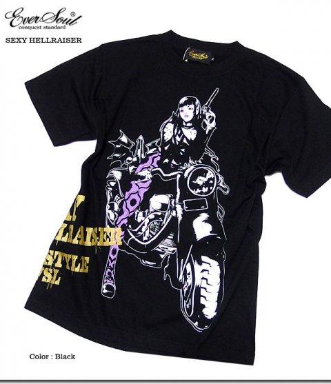 繊細なタッチのグラフィックに価値観あり!セクシー&クールなエロかっこいいガールプリントTシャツ!