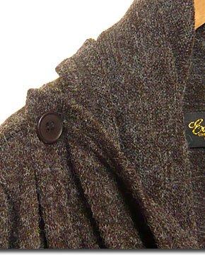 軽く羽織れて着易く防寒性もGOOD!ジッパー使い指穴付きニットロングカーディガン!