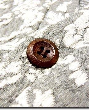 トレンド感満載!総花柄を織り込んだバイカラー袖切替ドルマンスリーブ5分袖カーディガン!