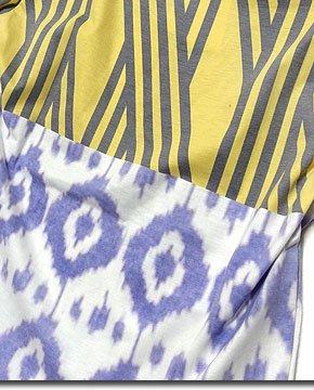 今季マストなスポーツリミックス!幾何学模様を大胆にパネル切替したアヴァンギャルドデザインTシャツ!