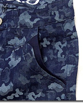 この夏ヘビロテ確定のショートパンツが登場!爽やかなブルー系カモフラ迷彩柄のハーフパンツ!