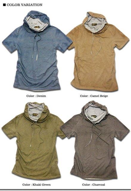 サロン系に最適&価値観大!1枚づつ手作業でスプレー染めしたボリュームネックTシャツ!
