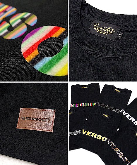 シンプルで高級感のあるデザインがGOOD!6種類の技法を駆使したEVERSOULロゴプリントT!
