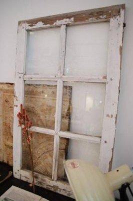 アンティークガラス窓 WHT×GRN・a