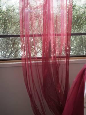enfild'Indienneチュールカーテン(Framboise)