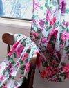 オンフィルダンディエンヌ ボイルカーテン(花柄-GRISグレー)