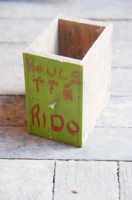 ビンテージ ペイントウッドボックス(RIDO グリーン)