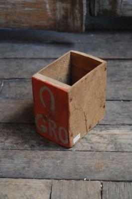 ビンテージペイントウッドボックス(GRO)