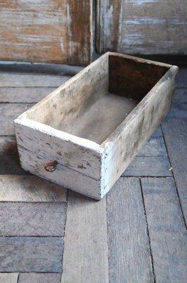 ビンテージペイントウッドボックス(ホワイト)