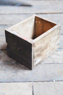 ビンテージペイントウッドボックス(ブラック)