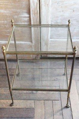 アンティーク ガラスサイドテーブル