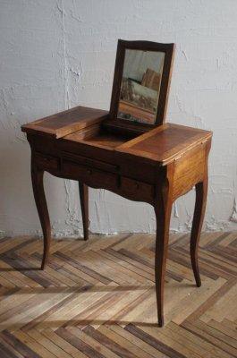 アンティーク 鏡台ウッドテーブル
