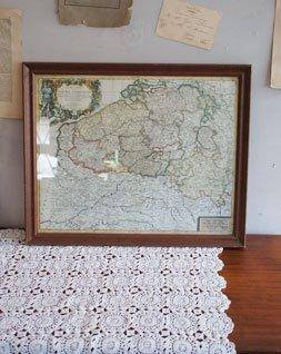 アンティーク 木製フレーム(地図)