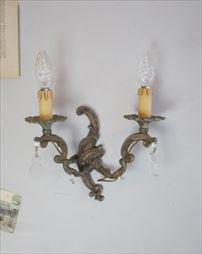アンティーク ブラスウォールランプ(2灯)
