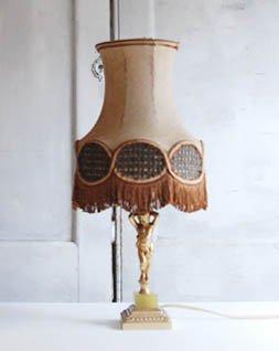 アンティーク フリンジシェードランプ