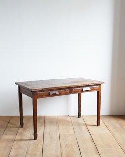 アンティーク 2ドロワーテーブル