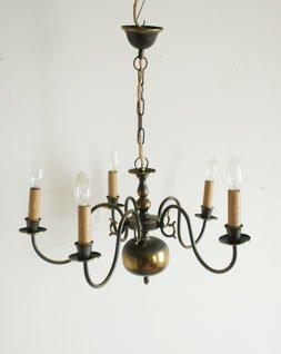 アンティーク リーフシャンデリア 5灯