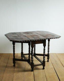 アンティーク ツイストレッグゲートテーブル