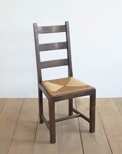 木製ラッシュシートチェア.a