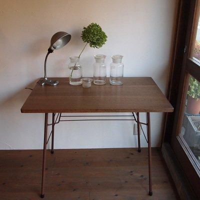 楢テーブル(鉄あし)