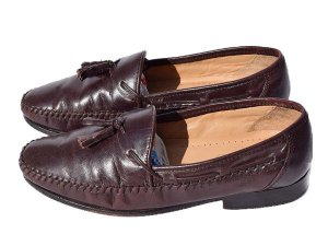 【US7.5/25.5cm】 00's STAFFORD ローファーシューズ 中古 STAFFORD LOAFER SHOES 革靴 ヴィンテージ