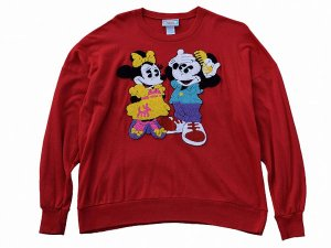 【L】 80's ミッキーマウス ヴィンテージ スウェット ディズニー 古着 OLD MICKEY&MINNIE SWEAT 中古