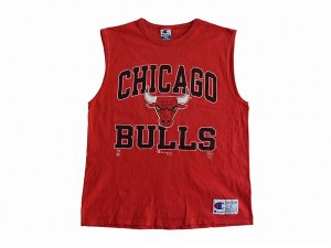 【L】 90's USA製 チャンピオン ヴィンテージ NBA シカゴブルズ ノースリーブ Tシャツ CHAMPION CHICAGO BULLS 古着<img class='new_mark_img2' src='//img.shop-pro.jp/img/new/icons5.gif' style='border:none;display:inline;margin:0px;padding:0px;width:auto;' />