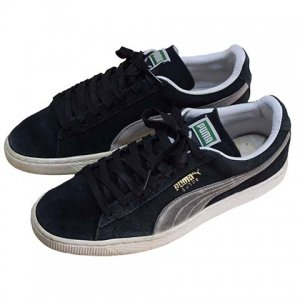 【US8.5】 10's プーマ PUMA スウェード スニーカー 黒色 スエード PUMA SUEDE UK7.5 US8.5 26.5cm 中古<img class='new_mark_img2' src='//img.shop-pro.jp/img/new/icons5.gif' style='border:none;display:inline;margin:0px;padding:0px;width:auto;' />