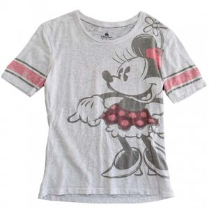 【XS】 10's ディズニー ミニーマウス キャラクターTシャツ フットボールTシャツ Disney Minnie Mouse 白色 レディースXS相当 アメリカ古着<img class='new_mark_img2' src='//img.shop-pro.jp/img/new/icons5.gif' style='border:none;display:inline;margin:0px;padding:0px;width:auto;' />