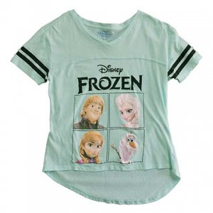 【XS】 10's ディズニー アナと雪の女王 キャラクターTシャツ Disney FROZEN キッズL レディースXS/S相当 古着 Tシャツ アメリカ古着<img class='new_mark_img2' src='//img.shop-pro.jp/img/new/icons5.gif' style='border:none;display:inline;margin:0px;padding:0px;width:auto;' />
