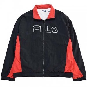【L】 90's フィラ ヴィンテージ ナイロンジャケット FILA デカロゴ メンズL スポーツ 黒色 アメリカ古着<img class='new_mark_img2' src='//img.shop-pro.jp/img/new/icons5.gif' style='border:none;display:inline;margin:0px;padding:0px;width:auto;' />