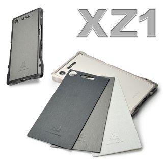 背面パネル:LEATHER BACK DEFENDER for Xperia XZ1