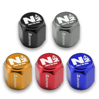 窒素ガス用(N2表記)FULL BILLET AIR VALVE CAP(HEX-SHORT-N2)for CAR and Motor Cycle
