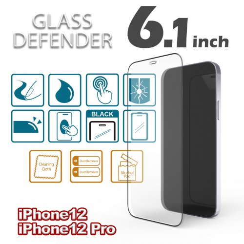 <img class='new_mark_img1' src='https://img.shop-pro.jp/img/new/icons1.gif' style='border:none;display:inline;margin:0px;padding:0px;width:auto;' />GLASS DEFENDER for iPhone12Pro & iPhone12 (6.1
