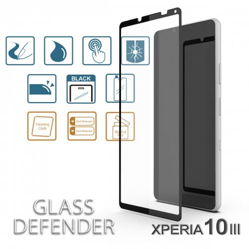<img class='new_mark_img1' src='https://img.shop-pro.jp/img/new/icons1.gif' style='border:none;display:inline;margin:0px;padding:0px;width:auto;' />GLASS DEFENDER for【XPERIA 10 III】 (SILK PRINT-2.5D)
