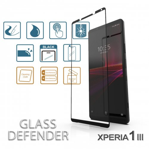 <img class='new_mark_img1' src='https://img.shop-pro.jp/img/new/icons1.gif' style='border:none;display:inline;margin:0px;padding:0px;width:auto;' />GLASS DEFENDER for[XPERIA 1 III] (SILK PRINT-2.5D)