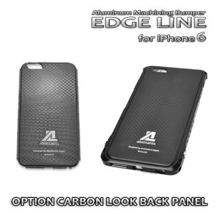 ・iPhone6/6S(4.7inch)専用・ OPTION CARBON LOOK BACK PANEL※iPhone7不可