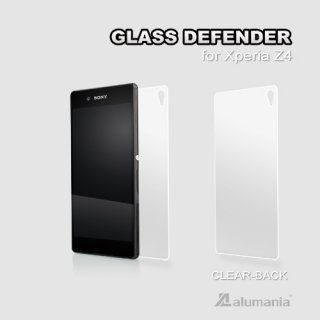 GLASS DEFENDER ●BACK-CLEAR(0.33mm)for Xperia Z4